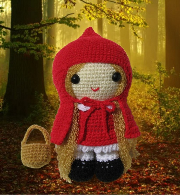 Little Red Riding Hood - cute doll - crochet or knit?