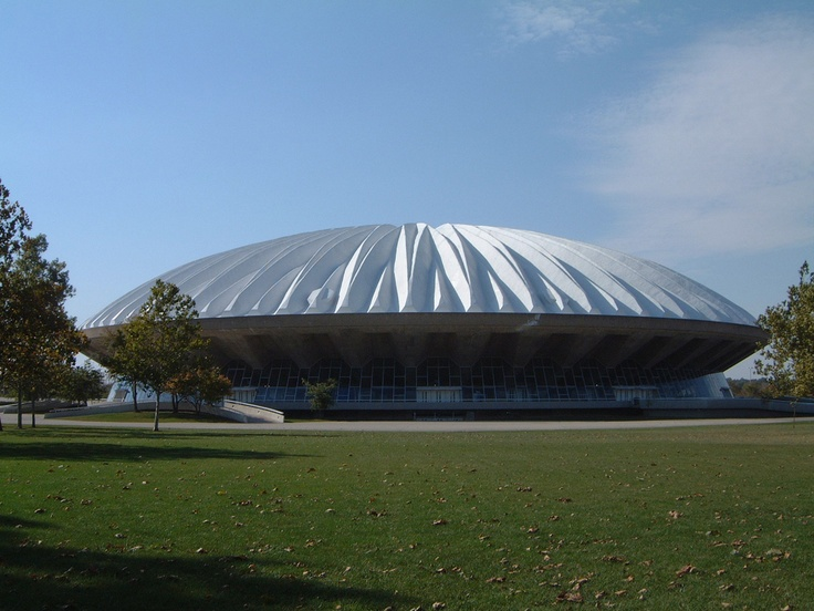 University of Illinois Assembly Hall--also known as the House of 'Paign.  Yes; we know it looks like a flying saucer.