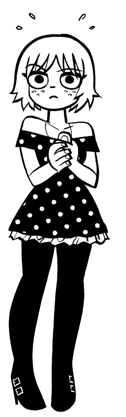 Comic book art dots black and white dress