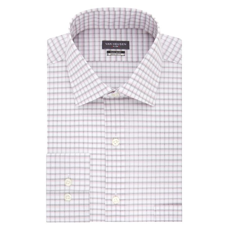 Men's Van Heusen Flex Collar Regular Fit Stretch Dress Shirt, Pink