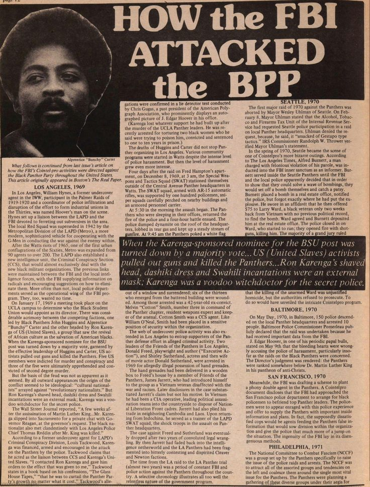 essay on the black panthers Stories, pictures and information about the alumni members, community workers, rank and file of the black panther party.