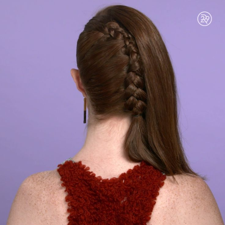 A one-sided French braid