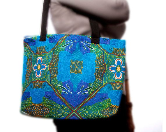 Australian Aboriginal Art Bag by AboriginalOzArt on Etsy