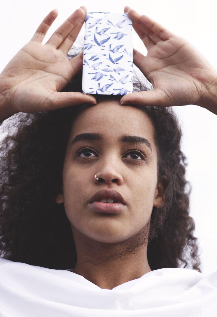 """Traffic Jam"" Shell'Oh! iPhonecase designed by Anna Salmi. //Model Rebekka Yeboah, photos by Alexandra Lehi"