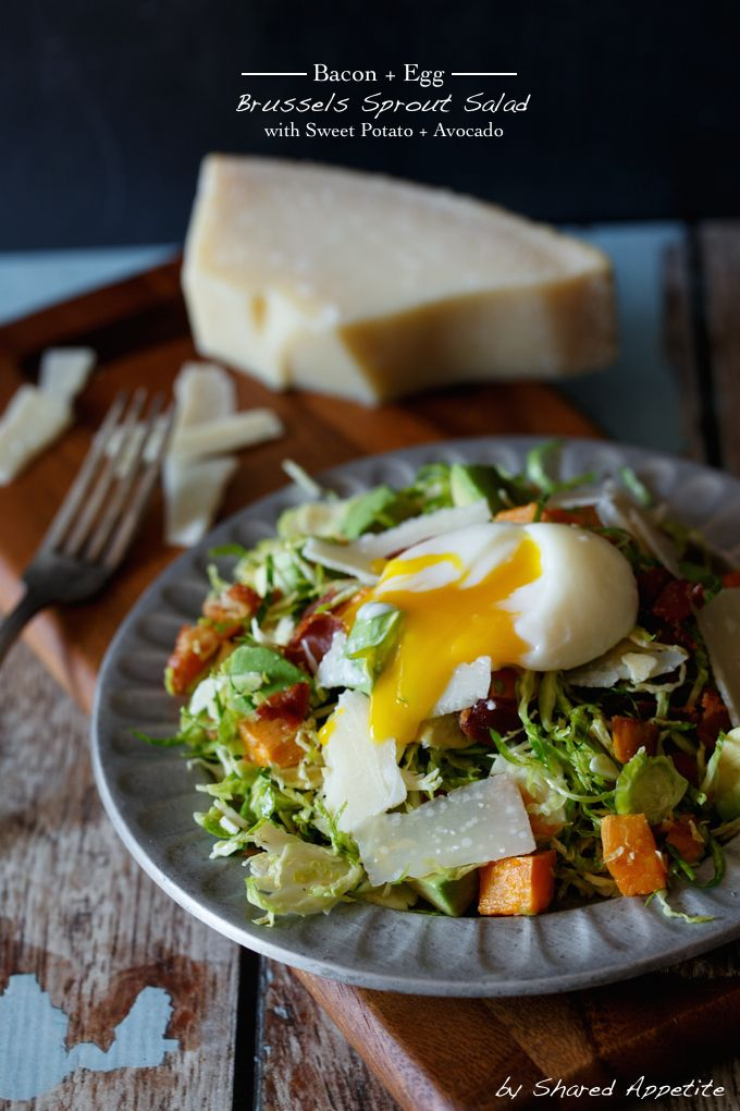 This is a game changer in our house… a gluten-free and paleo friendly recipe for Bacon, Egg, and Sweet Potato Brussels Sprout Salad. #salad #paleo