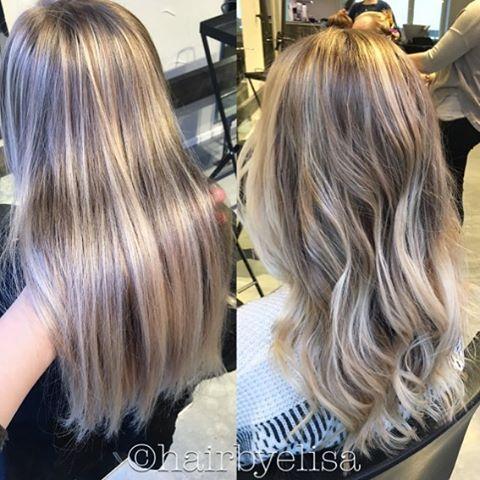 Same hair #straight and #wawy  #balayage #lowlights #highlights #blond #naturalhair #cooltone #hairbyelisa #elyciaturku #easyjazzyhip #hairdesignfactory #hairofinstagram #hairoftheday #loosecurls