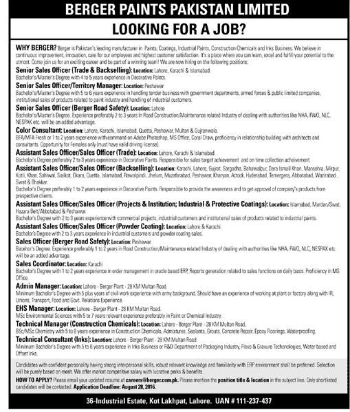 381 best Latest Jobs in Pakistan images on Pinterest Jobs in - sales coordinator job description