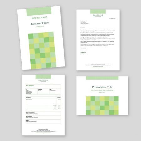 Business Template Starter Sets for sale. Includes: letterhead, basic report, simple invoice and presentation templates in two formats.