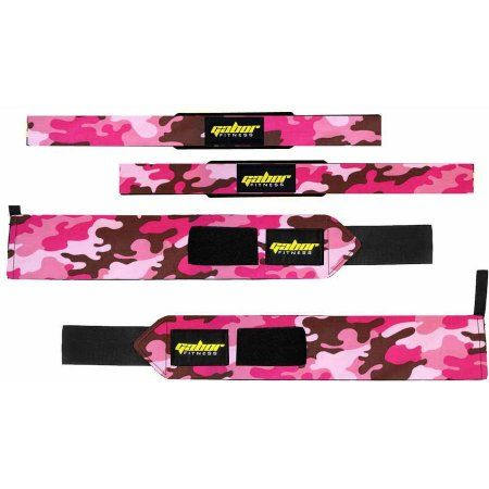 Gabor Fitness Heavy-Duty Weight-Lifting Wrist Wraps and Straps Combo Package, Multicolor