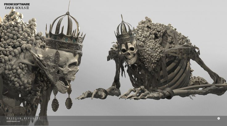 Colossal skeleton boss enemy that I created for Dark Souls III back in year 2015. It was a great experience and yet challenging as it is extremely huge in scale. And I'm sure a lot of you guys are frustrating to take him down in the game. Modeling process  was fun especially sculpting on the clinging flesh on the skeleton and exploration on the proportion. Note that High Lord Wolnir cape been removed for all the preview as it may cover all the detail at the back. It is about 90,000 tris…
