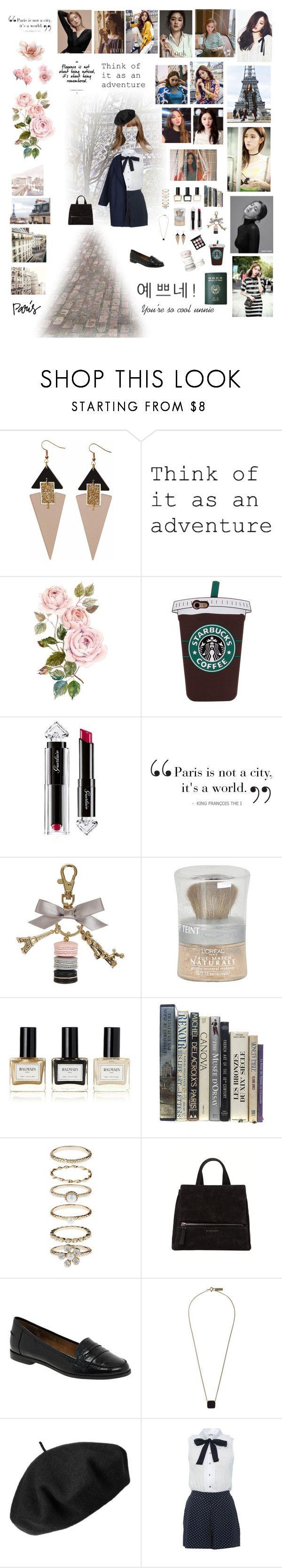 """Paris w/ Lee Sung Kyung"" by marktuan7 ❤ liked on Polyvore featuring GET LOST, twenty2, Toolally, Passport, Guerlain, Assouline Publishing, Ladurée, L'Oréal Paris, Balmain and Accessorize"