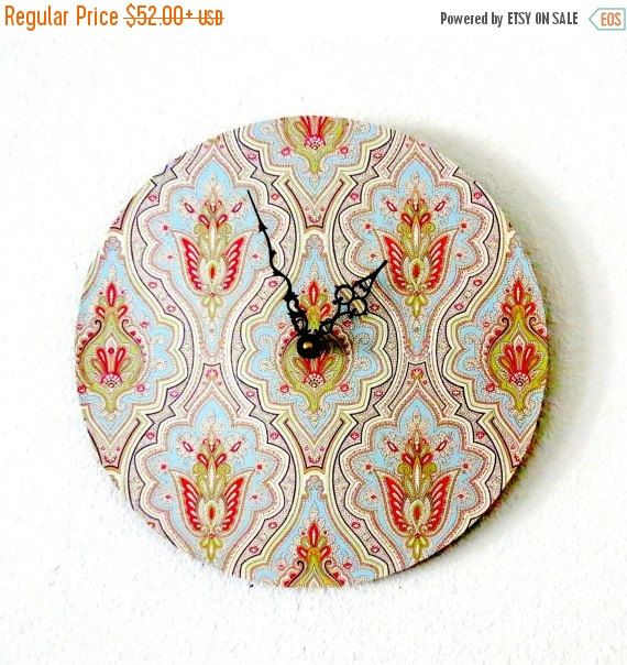 SALE Bohemian Wall Clock  Decor and Housewares  by Shannybeebo