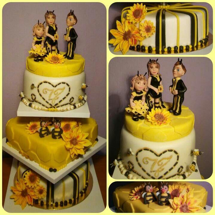 Esküvői torta méhésznek