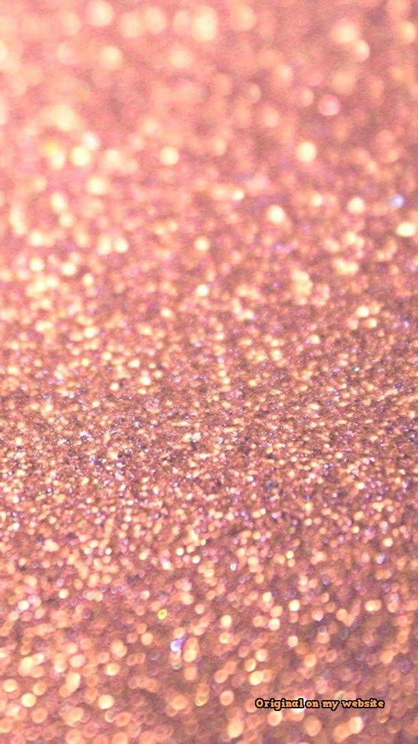 Beaded Wind Chimes Rose Gold Glitter Wallpaper Gold Glitter