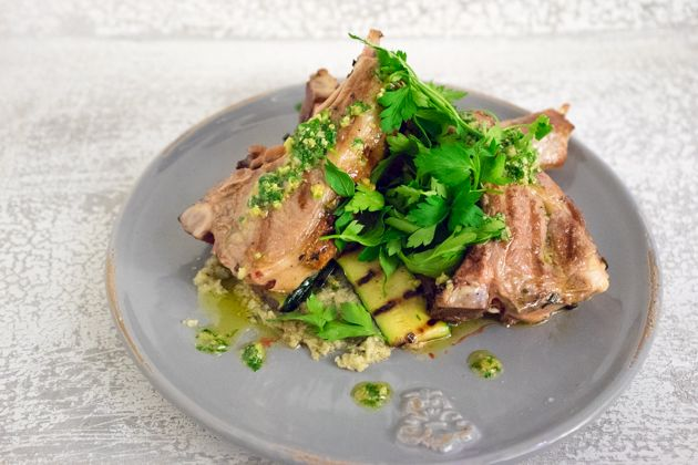 awesome Costolette di agnello alla griglia (grilled lamb chops with rosemary, garlic and anchovy)