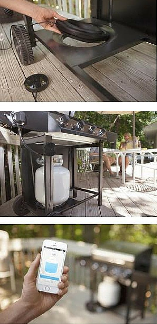 Nothing puts the kibosh on a cookout faster than an empty propane tank. With Refuel, you'll never get caught off guard by said BBQ bummer again. This super smart propane tank gauge connects to the Wink app on your mobile device so no matter where you are, you'll always know when it's time to refuel. | Grilling
