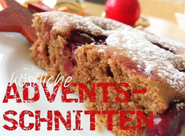 Diese köstlichen Adventsschnitten mit Kirschen gibt es bei uns zum Adventskaffee und am 1. Weihnachtstag zum Familienbrunch. In 30 Minuten auf dem Tisch!