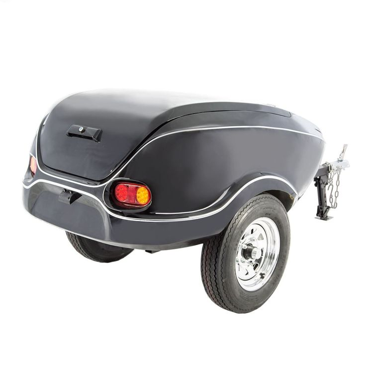 Black Widow Tow-Behind Motorcycle Cargo Trailer - 600 lb Capacity