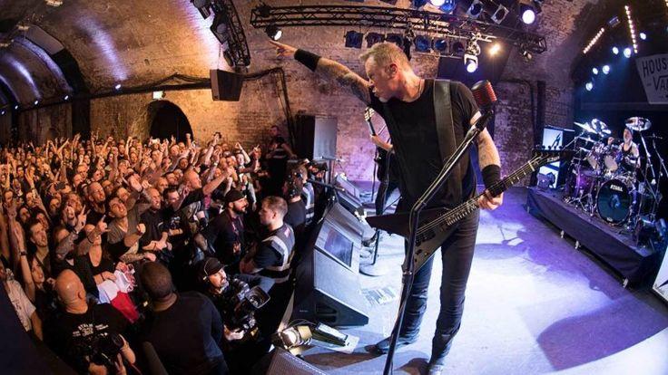 Metallica - James Hetfield onstage at London's House of Vans by Ross Halfin