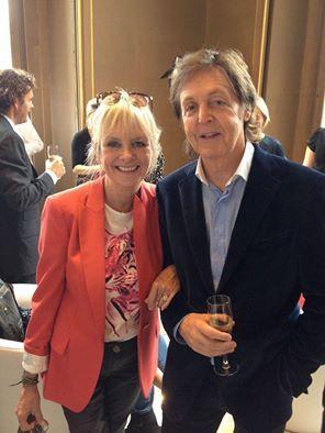 Twiggy, 65 and Paul McCartney, 72 (at Stella McCartney's show)