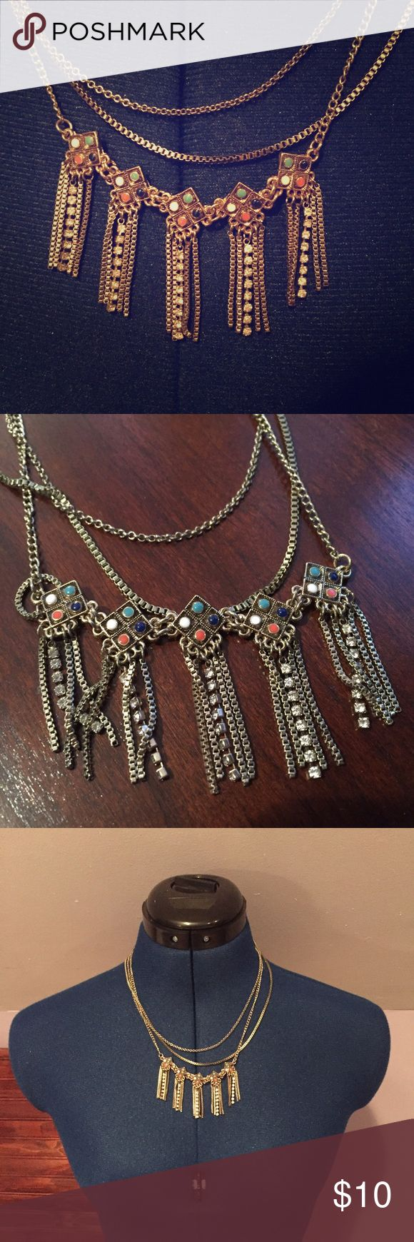 Three-chained Aztec Necklace Used, but in perfect condition. Feel free to ask questions. No trades. Jewelry Necklaces