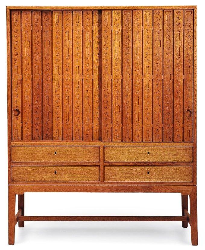 Hans Wegner; Oak Cabinet for Michael Laursen, 1942.