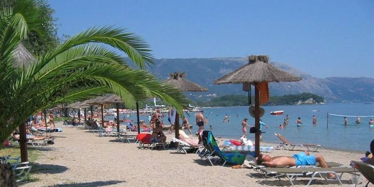 The Beach in Dassia Corfu Greece