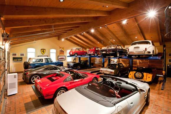 In the event where you just don't know what to do with your collection of all your cars you could always do what this Rancho Santa Fe homeowner has done with his 3,400 sq/ft garage.