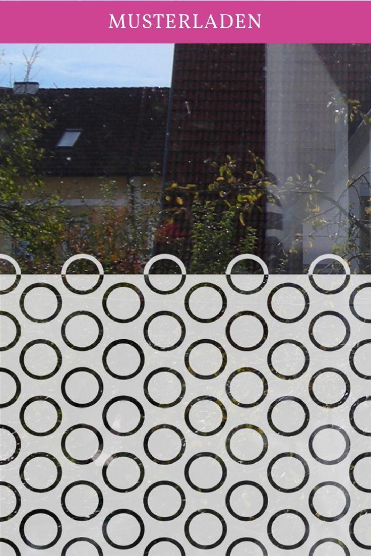 Abstrakter Fensteraufkleber Ringe In 2020 Fensteraufkleber Folie Fur Fenster Fensterfolie