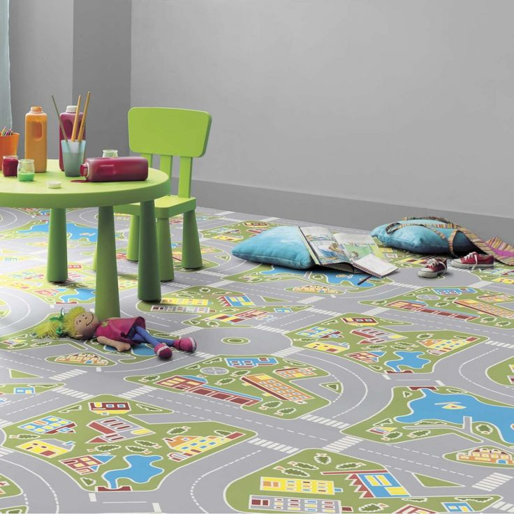 Our stylish 1603 Track Multicoloured Vinyl Flooring will keep your kids entertained for hours. Featuring a track system painted with primary colours, your kid will surely enjoy walking on this vinyl sheet flooring. With R10 slip resistance, thermal resistance for underfloor heating and 17-20db sound absorption quality, this non slip vinyl flooring is allows your kids to learn whilst they play.