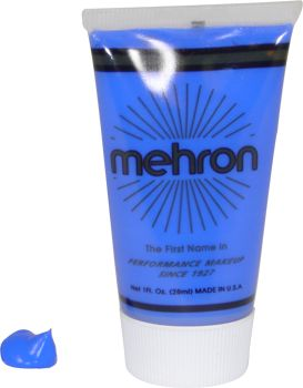 Mehron F-X Makeup Blue: Silly Farm Supplies Inc. Face Painting | Body Painting | Airbrush Supplies | Arty Brush Cakes | Rainbow Cakes | Clown Supplies