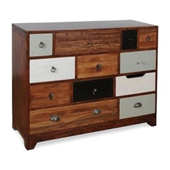 Jasmine Chest of Drawers in Grey - Large - from Cult Furniture UK