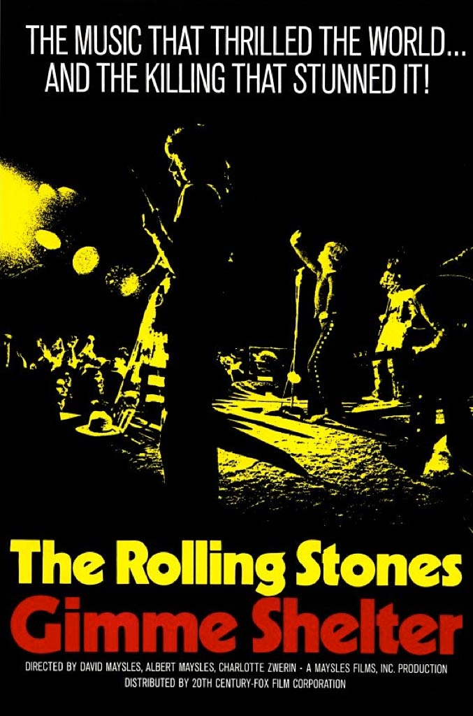 """""""Gimme Shelter"""", documentary film by Albert and David Maysles and Charlotte Zwerin (USA, 1970)"""