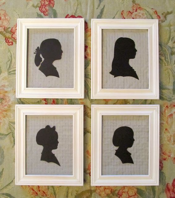 making a silhouette - great tutorial!  I'd done this once before at MOPS so I had the basic idea down....