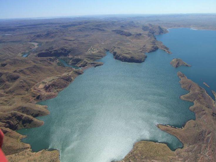 Over Lake Argyle