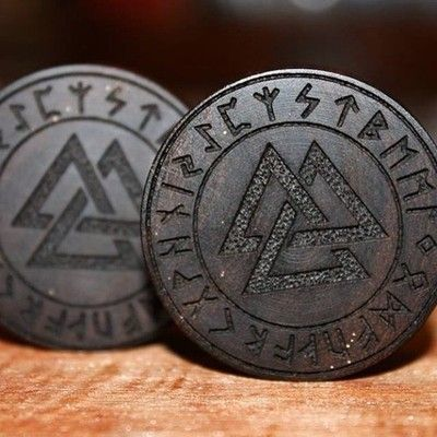 """The valknut (Old Norse valr, """"slain warriors"""" + knut, """"knot"""") is a symbol consisting of three interlocked triangles, and appears on various Germanic objects. A number of theories have been proposed for its significance"""