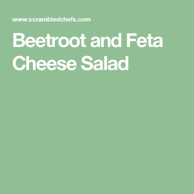 Beetroot and Feta Cheese Salad