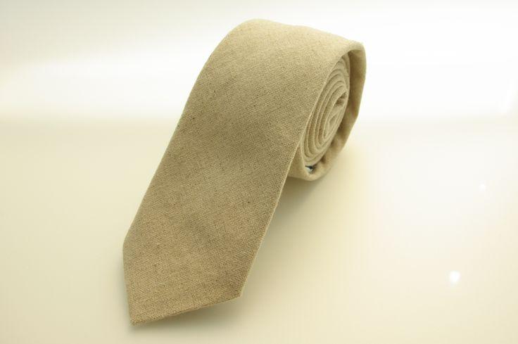 Natural linen tie, hand made in Australia by Huxby Haberdashery. Great wedding tie idea