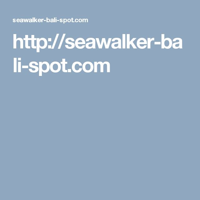 http://seawalker-bali-spot.com