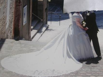 Robe de Mariée Grande Taille 50/52 avec traine