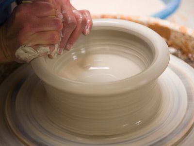 I want a small pottery studio.. wheel and kiln would make me happy.