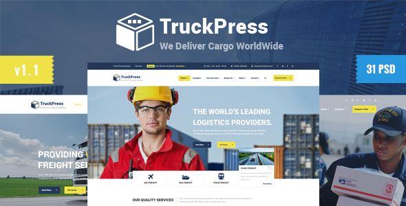 TruckPress | Logistics & Transport Business PSD