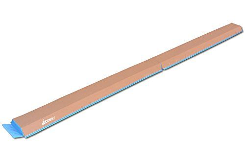 JuperbSky Gymnastics Half Folding and Joinable Suede Floor Foam Practice Balance Beam for kids, 8 Feet, Light Blue  Perfect for gymnasts, cheerleaders to learn walking handstanding, jumping and leaping; Non-toxic, non-absorbent and mildew-resistant  Constructed of heavy duty suede covers and high-density firm cross-linked polyethylene foam for a better and safe performance  4-inch wide top design (the same width as a competition beam) and 6-inch wide base for stability  Comes with velc...