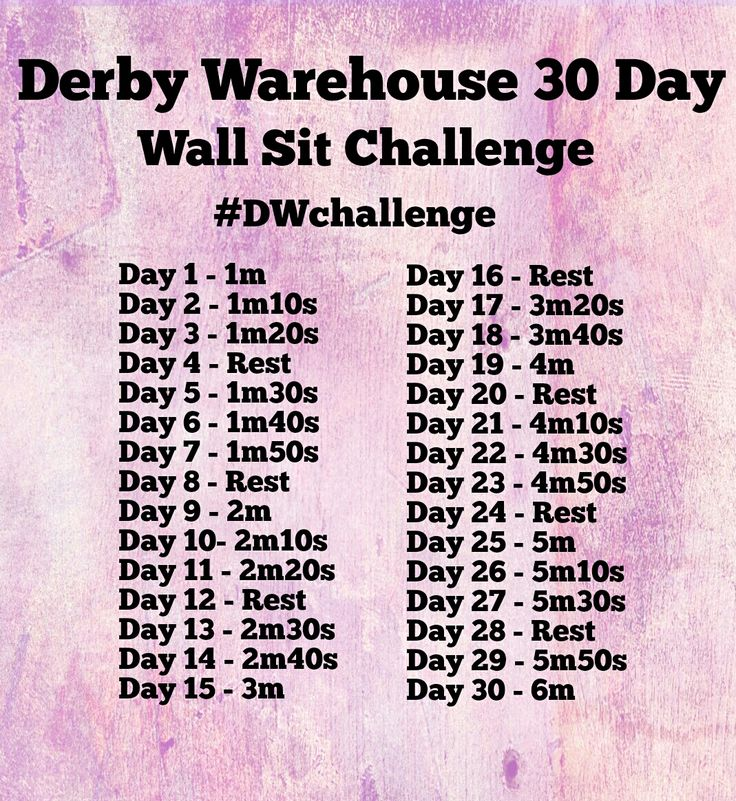 Derby Wall Sit Challenge