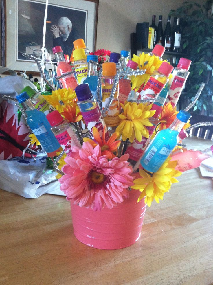 My own creation. A kinky and pucker booze bouquet!