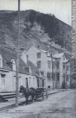 Rue Champlain, Cap Diamant, Québec, QC, vers 1907