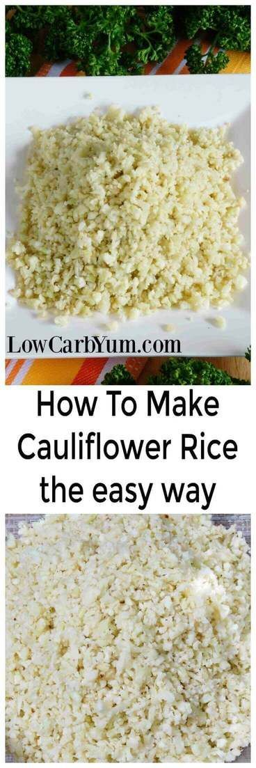 Keto friendy riced cauliflower is quick and easy to prepare. No wonder it's a staple on low carb diets. Here's how to make cauliflower rice the easy way. | LowCarbYum.com via @lowcarbyum