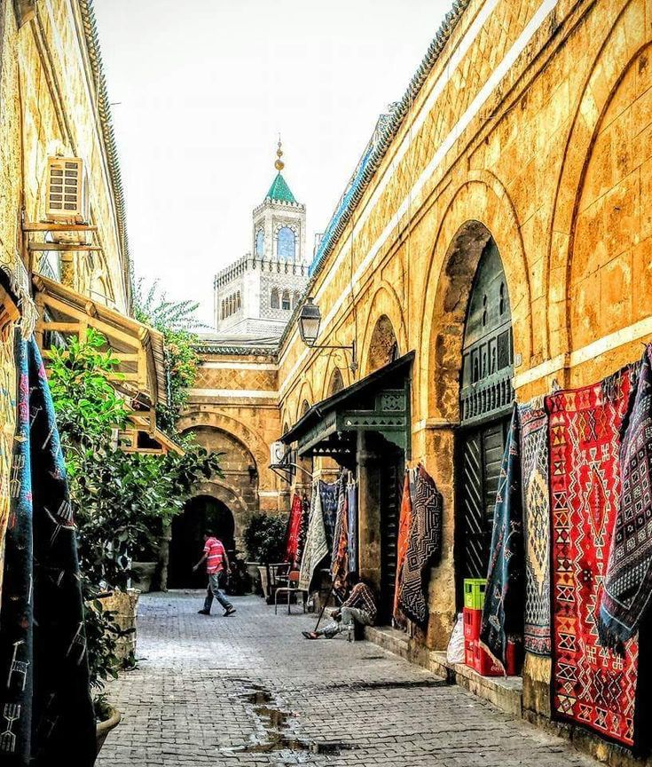 """.. turn right, dive into the secrets of the """"Medina"""", #oldTown of Tunis, captured by Cheima Fezzani, #Tunisia. #Peace!"""