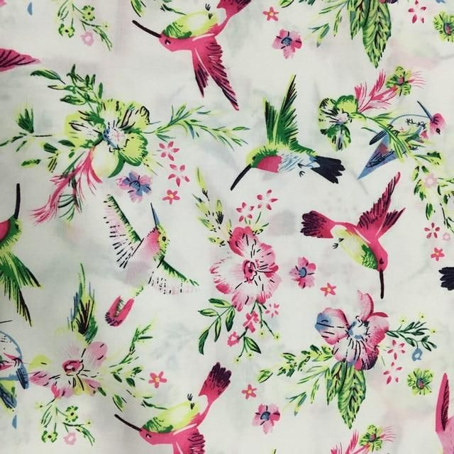 NEW Elegant Birds Quilting Fabric 100/% Cotton Sold By The Yard