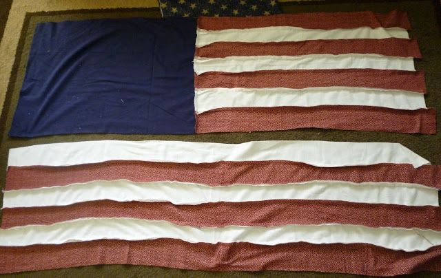 Twisted Rag Quilt Pattern Free : Feather s Flights {a creative, sewing blog}: USA Flag Rag Quilt Tutorial A stitch in Time ...